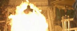 Калибур горит